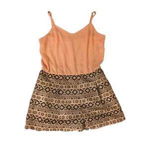 MOVING SALE ** peach and knit romper